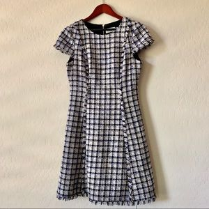 ELIZA J houndstooth fit and flare dress
